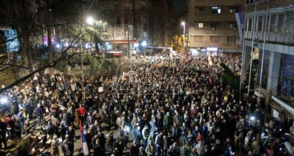 Учесници протеста ушли у зграду РТС-а
