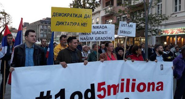 """Протести """"1 од 5 милиона"""" одржани у Ужицу, Ваљеву, Нишу и Шапцу"""